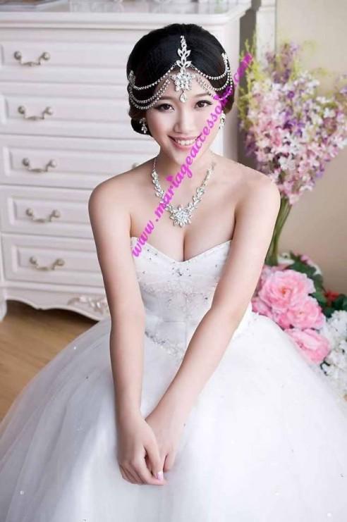 bijou de front dor ou argent tikka - Diademe Mariage Oriental
