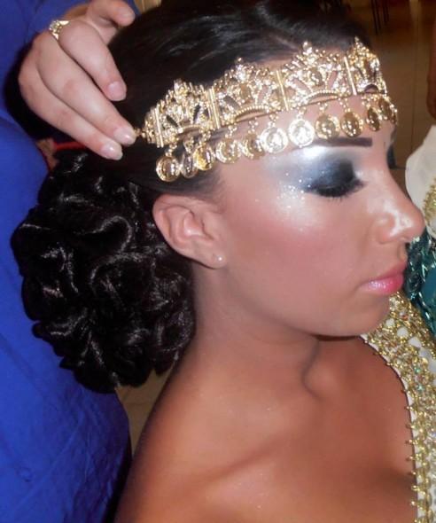 bijou de front argent - Diademe Mariage Oriental