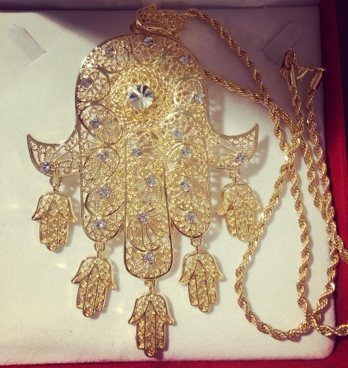 meskya plaqué or avec chaine inclue