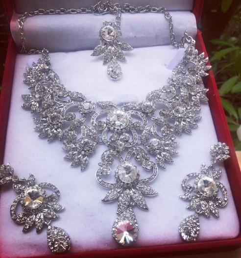 Parure indienne argenté mariage