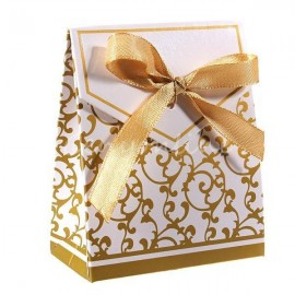 Boite dragées mariage argenté ou doré