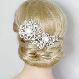 Peigne cheveu mariage argenté ou doré