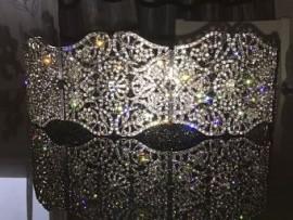 Ceinture plaqué or mariage strass cristal ceinture luxe negafa