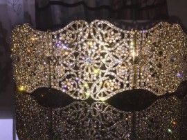 Ceinture plaqué or ou argent mariage strass cristal ceinture luxe negafa