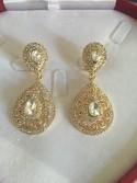 Boucles d'oreilles plaqué or ou argent mariage