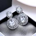 Boucles d'oreilles strass cristal argent mariage