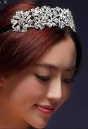 Serre tête argenté mariage fiançailles coiffure
