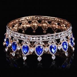 Couronne doré et bleu roi mariage