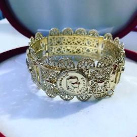 Bracelet en plaqué or pièce Napoléon