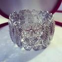 Bracelet en plaqué argent avec motif Main de Fatma