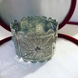 Bracelet en plaqué argent oriental