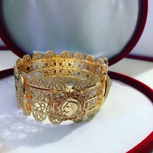 Bracelet en plaqué or Napoléon