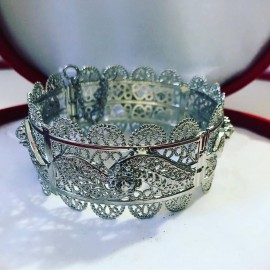 Bracelet en plaqué argent strass
