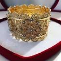 Bracelet en plaqué or strass