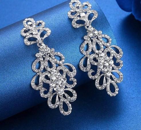 Boucles d'oreilles argenté ou doré mariage