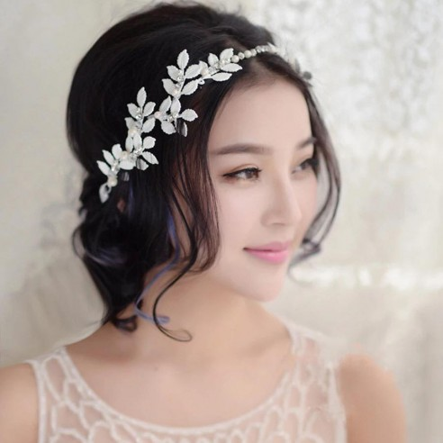"""Applique serre tête cheveux mariée """"fleur"""""""